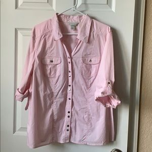 Christopher and Banks classic button blouse XL